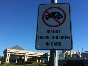 leaving your child in a car